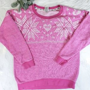 PINK Victoria's Secret Pink Snowflake Sweater